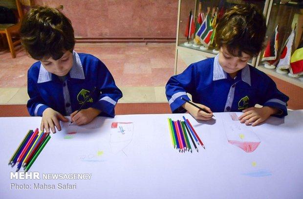 مسابقه نقاشی ۴۰ متری ویژه دانش آموزان در گرگان
