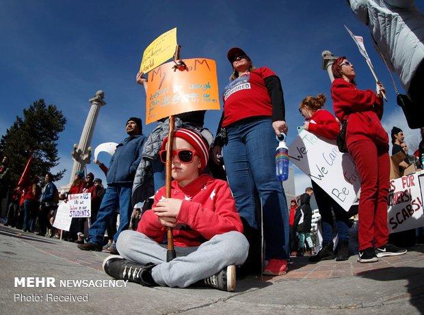 اعتصاب معلمان در آمریکا