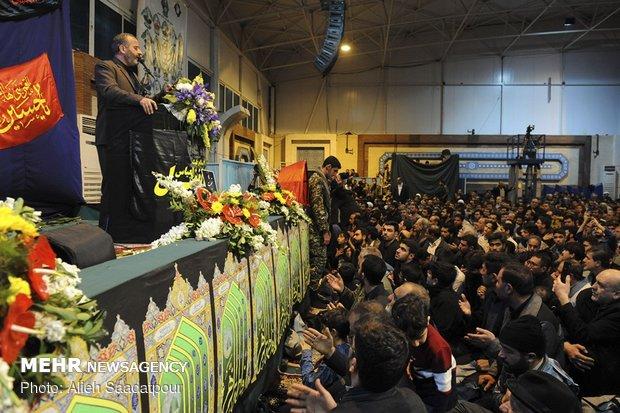 مراسم وداع با پیکر شهدای مدافع امنیت