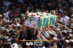 تشییع شهدای زاهدان در شهر اصفهان