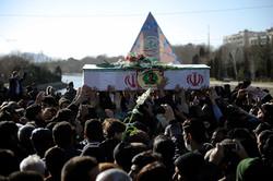 پیکر شهدای مدافع حریم امنیت در چادگان و خمینیشهر تشییع شد