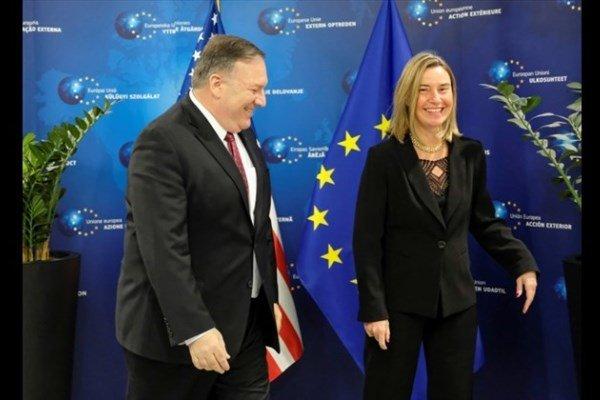 دیدار «پمپئو» و «موگرینی» پس از ادعاهای واهی «پنس» علیه ایران