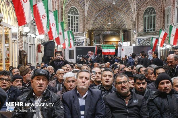 احياء ذكرى شهداء 29 بهمن في سوق تبريز
