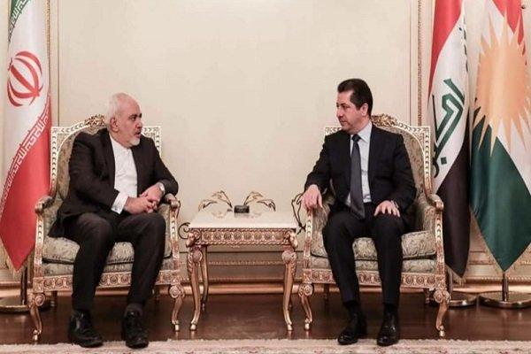Zarif, Mesrur Barzani ile görüştü