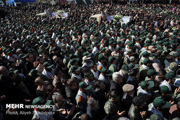 مراسم تشییع شهدای امنیت در اصفهان