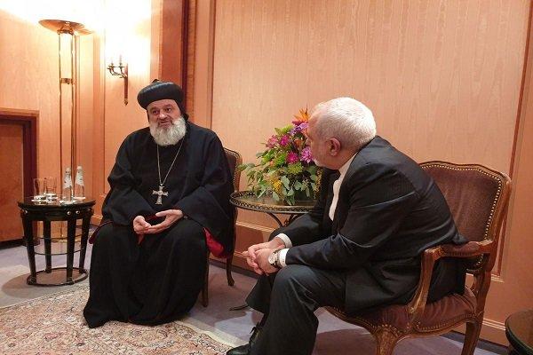 Iran FM, Syrian patriarch discuss regional issues in Munich