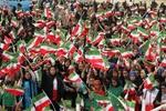 ترک ورزشگاه رفسنجان از سوی عدهای از حضار قبل از اتمام سخنرانی
