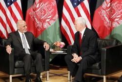 دیدار معاون رئیس جمهوری آمریکا با «اشرف غنی»