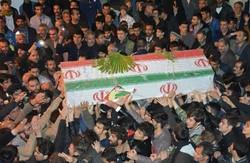 پیکر مطهر ۲ شهید نیروی انتظامی در مشهد تشییع شد