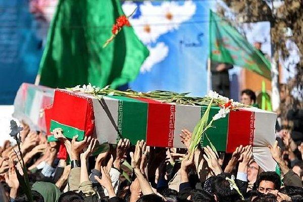 پیکر سه شهید گمنام در بوشهر تشییع شد