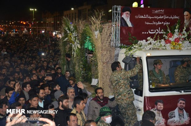 Funeral procession of three martyred IRGC personnel