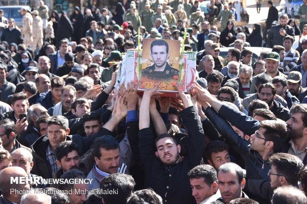 مراسم تشییع  دو شهید امنیت در شهرضا