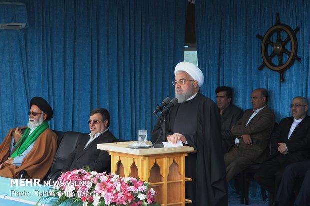 سخنرانی رئیسجمهور در جمع مردم بندر لنگه