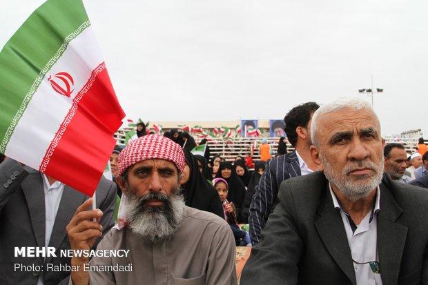 Pres. Rouhani in Bandar Lengeh