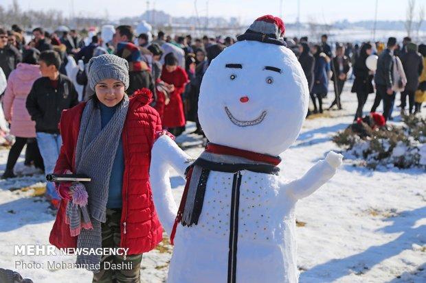 Snowman festival in NW Iran