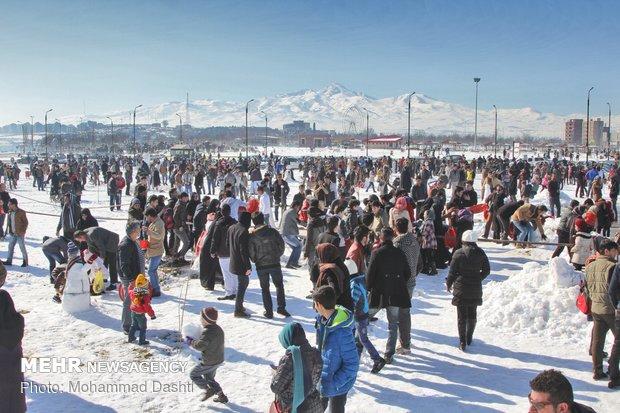 جشنواره آدم برفی در اردبیل