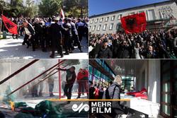 تلاش مخالفان دولت آلبانی برای ورود به دفتر نخستوزیر