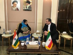 Sushma Swaraj  and Abbas Araghchi