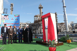 President Rouhani inaugurated the project for boosting production capacity and improving quality of gasoline and gas oil produced in Bandar Abbas Oil Refining Company on Monday