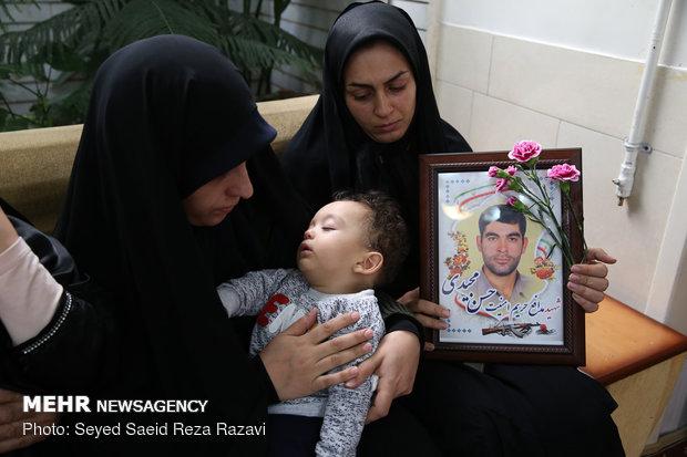 همسر شهید حسن مجیدی ( شهید حسن مجیدی در سال 97 در حادثه تروریستی زاهدان به شهادت رسید.)