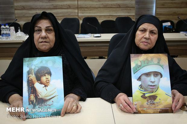 مادر شهید بهنام محمدی و مادر شهید رضا پناهی (شهید بهنام محمدی در سال 1359 در خرمشهر به شهادت رسید .. شهید رضا پناهی در سال 1361 به شهادت رسید)