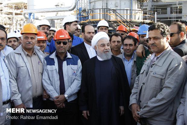 بهره برداری از پروژه بهبود کیفیت بنزین و نفت گاز