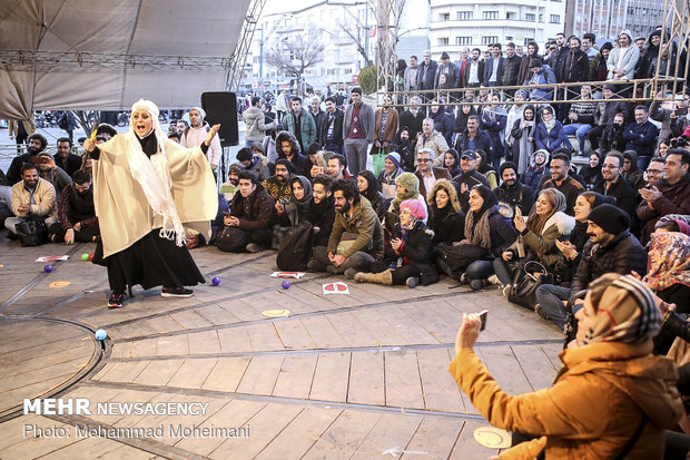 Street performances of 37th Fajr Theater Festival
