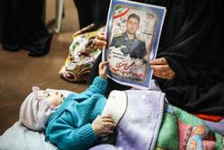 مراسم تابين شهداء الهجوم الارهابي جنوب شرقي ايران/ صور