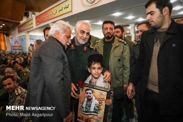 مراسم تابين شهداء الهجوم الارهابي جنوب شرقي ايران