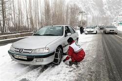 تردد در جاده های زنجان با زنجیر چرخ امکان پذیراست