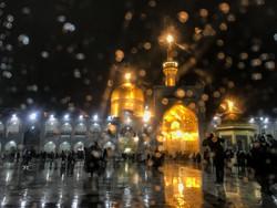 أجواء مرقد الامام الرضا(ع ) في ظل تساقط الثلج / صور
