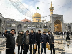 Snowfall blankets Imam Reza (AS) holy shrine