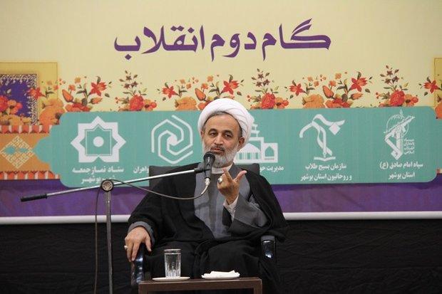 گردهمایی طلاب استان بوشهر با موضوع گام دوم انقلاب برگزار شد