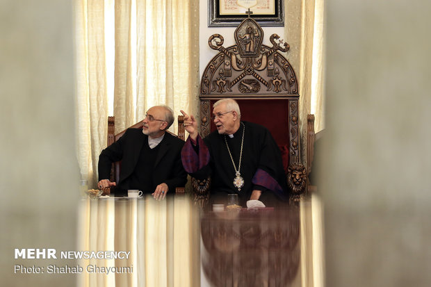 Iranian nuclear chief visits Armenian diocese of Tehran