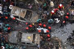 Bangladeş'teki yangından görüntüler