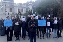 استنبول میں مصری قونصلخانہ کے سامنے مظاہرہ