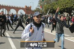 اشتباكات بين الشرطة والمحتجين في مظاهرات المعلمين بالمغرب /فيديو