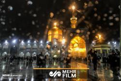 İmam Rıza (a.s) türbesinin karlı manzarasından güzel bir klip