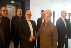 Iranian envoy meets Masoud Barzani