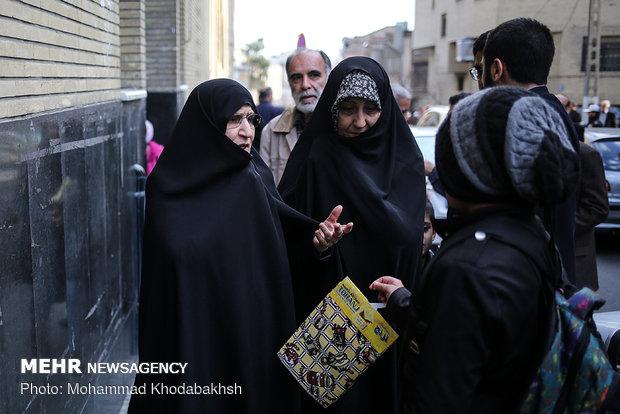 مراسم ختم خواهر هاشمی رفسنجانی