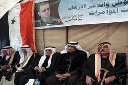تجمع ضد آمریکایی عشایر قامشلی در استان حسکه سوریه