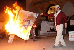 تظاهرات مردم مراکش در حمایت از مسجدالاقصی