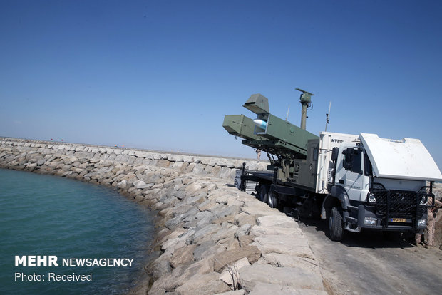 Launching Ghadir, Ghader cruise missiles in 'Velayat 97' drills