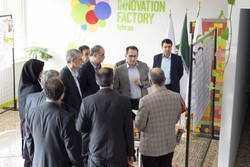 The undated photo shows science ministry officials paying visit to Tehran innovation factory, which is under construction