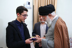 Ayatollah Khamenei's meeting with young chess player