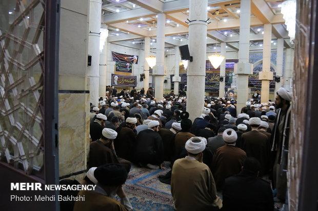 مراسم بزرگداشت آیت الله مومن در مسجد اعظم قم