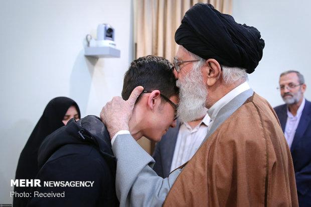 Ayatollah Khamenei's meeting with young chess player