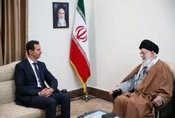 Beşar Esad, İslam Devrimi Lideri'yle görüştü