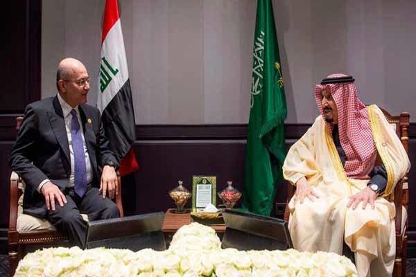 رئیس جمهور عراق و پادشاه سعودی رایزنی کردند