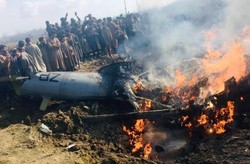 Indian fighter jet crashes in Budgam district of Kashmir